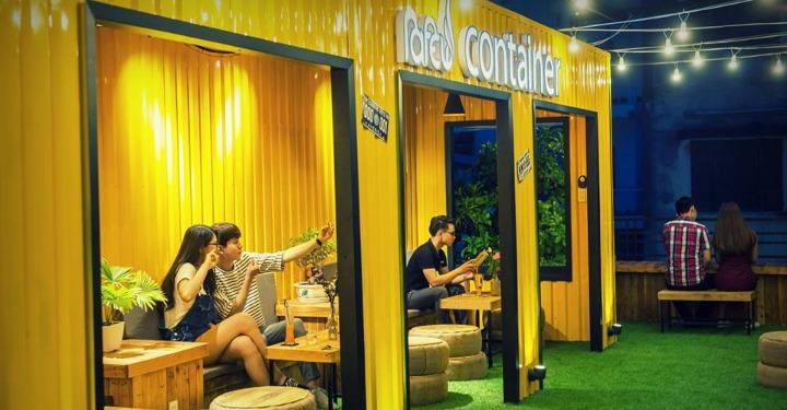 quán cafe container ở đà nẵng