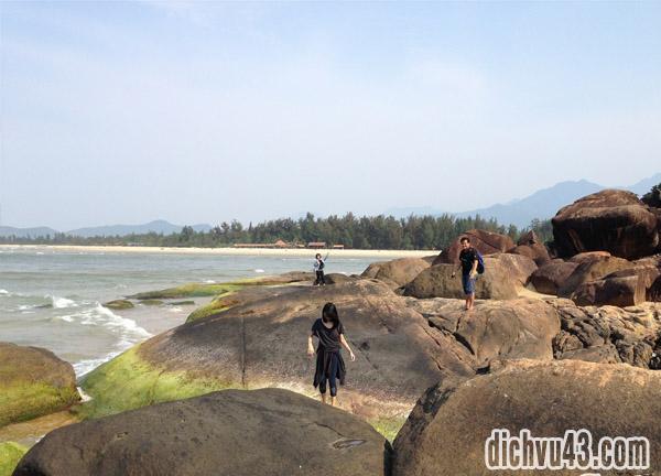 bãi đá biển cảnh dương