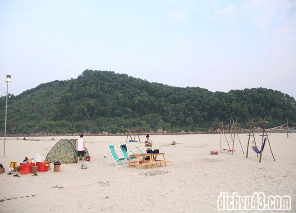cắm trại biển cảnh dương