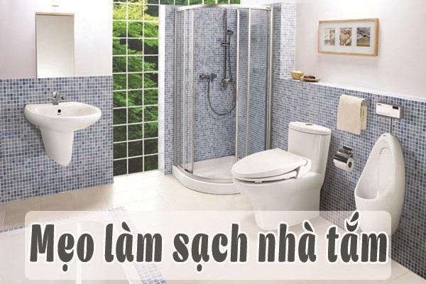 mẹo làm sạch nhà tắm